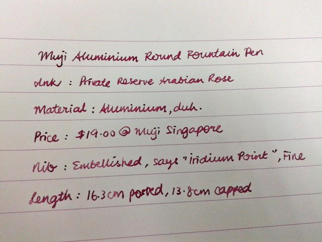 "My super small cursive handwriting. The first ""M"" is only 3mm in height!"