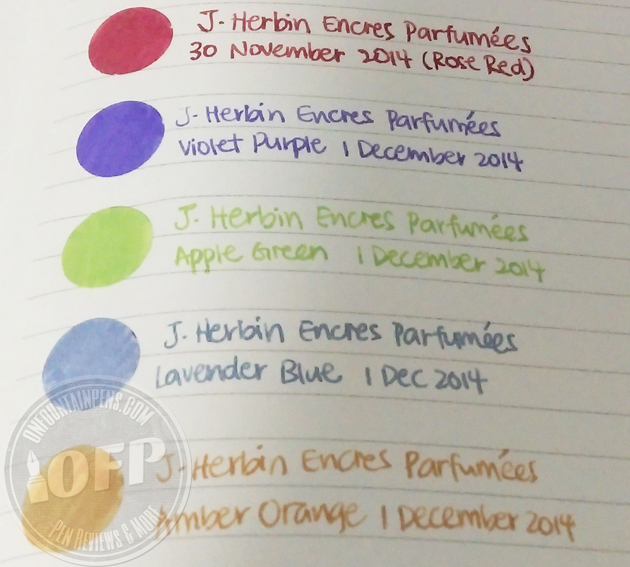 Herbin different colours on round stickers