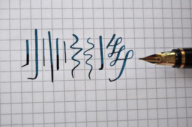 Namiki Falcon Medium nib line variations