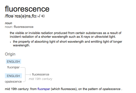 fluorescence-definition