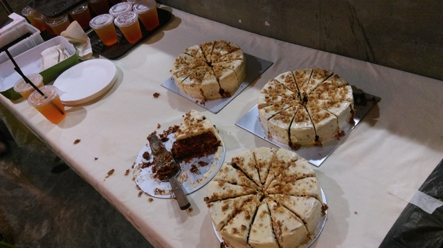 Delicious carrot cake to fill our tummies