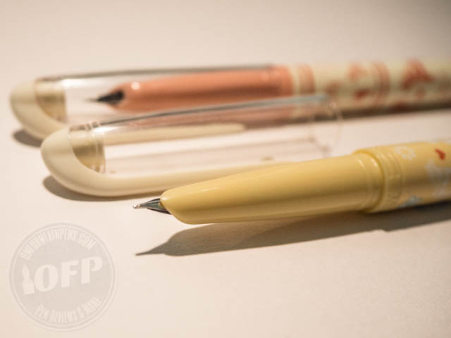 ... and also with a hooded nib. You'll get either the pink or the yellow.